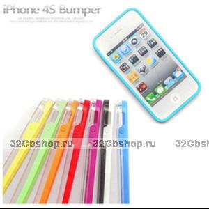 Бампер Vser для iPhone 4/4S фиолетовый