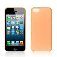Ультратонкий чехол накладка для iPhone 5c оранжевый