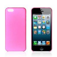 Ультратонкий чехол накладка для iPhone 5c розовый