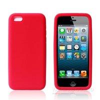 Cиликоновый чехол накладка для iPhone 5c красный