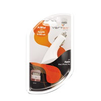 Автомобильное зарядное устройство для Apple iPad / iPhone/ iPod 2100mAh Vertex