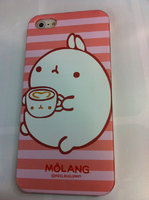 Накладка MOLANG Rabbit для iPhone 5 / 5s / SE заяц с чашкой