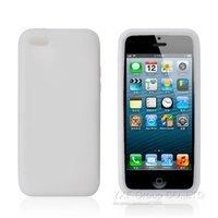 Cиликоновый чехол накладка для iPhone 5c белый