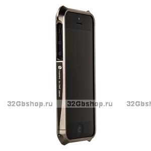 Алюминиевый бампер Deff CLEAVE для iPhone 5 / 5s / SE серый