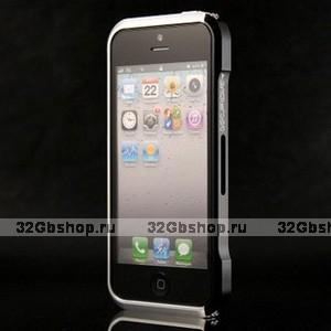Aлюминиевый бампер для iPhone 5 / 5s / SE Vapor 5 черный-серебро