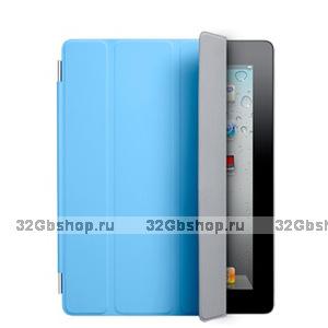 Сумка футляр для iPad 2 Smart Cover голубая