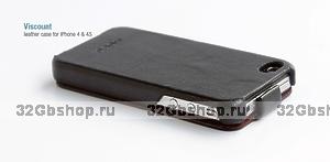 Сумка футляр-книга HOCO для iPhone 4/4S чёрная