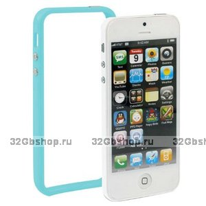 Бампер для iPhone 5 / 5s / SE голубой