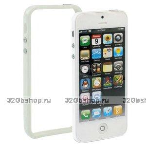 Бампер для iPhone 5 / 5s / SE белый