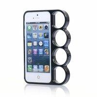 Чехол бампер кастет для iPhone 5 / 5s / SE - Marmoter Chrome Knuckle Bumper Black - черный