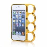 Чехол бампер кастет для iPhone 5 / 5s / SE - Marmoter Chrome Knuckle Bumper Gold - золотой