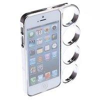 Чехол бампер кастет для iPhone 5 / 5s / SE - Marmoter Chrome Knuckle Bumper Silver - серебряный