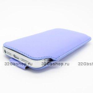 Чехол карман c язычком Pull Tab Pouch Purple для iPhone 5 / 5s / SE фиолетовый