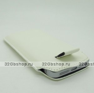 Чехол карман c язычком Pull Tab Pouch White для iPhone 5 / 5s / SE белый
