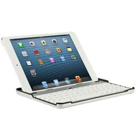 Чехол клавиатура для iPad mini белая с русскими буквами - Bluetooth Keyboard Case White
