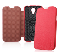 Чехол книга Baseus Ultrathin Case Hot Pink для Samsung Galaxy S4 - малиновый
