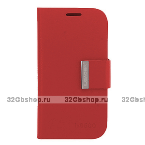 Чехол-книжка для Samsung Galaxy S4 - Red