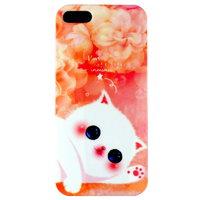 Чехол накладка Cute Cat Case для iPhone 5 / 5s / SE белый котик