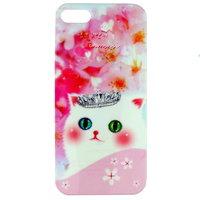 Чехол накладка Cute Cat Case для iPhone 5 / 5s / SE котик в короне