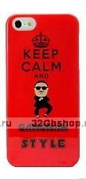 Чехол накладка Keep Calm and Gangnam Style Case для iPhone 5 / 5s / SE