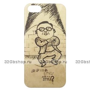 Чехол накладка Gangnam Style Case Beige для iPhone 5 / 5s / SE