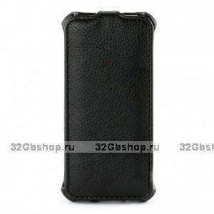 Чехол футляр-книга Armor Case для iPhone 5 / 5s / SE - черный