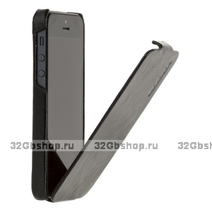 Кожаный чехол Borofone для iPhone 5s / SE / 5 - Borofone General flip Leather case black