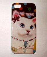 Накладка Jetoy для iPhone 5 / 5s / SE котик с бантиком