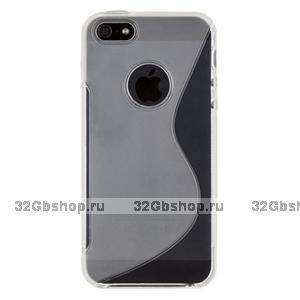 Силиконовый чехол-накладка для iPhone 5 / 5s / SE жесткий прозрачный