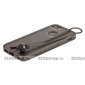 Чехол-накладка HOCO для iPhone 5 / 5s / SE - HOCO Classic TPU crystal case Tran-black