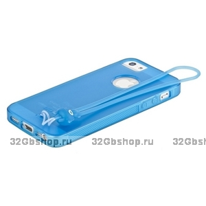 Чехол-накладка HOCO для iPhone 5 / 5s / SE - HOCO Classic TPU crystal case Dark blue