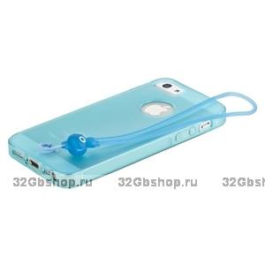 Чехол-накладка HOCO для iPhone 5 / 5s / SE - HOCO Classic TPU crystal case Light blue