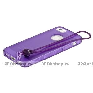 Чехол-накладка HOCO для iPhone 5 / 5s / SE - HOCO Classic TPU crystal case Purple
