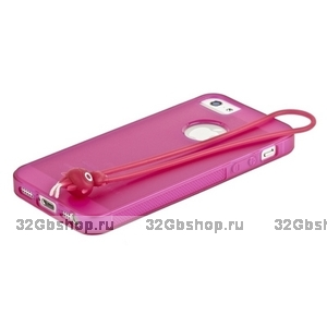 Чехол-накладка HOCO для iPhone 5 / 5s / SE - HOCO Classic TPU crystal case Rose red