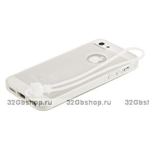 Чехол-накладка HOCO для iPhone 5 / 5s / SE - HOCO Classic TPU crystal case White
