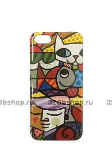 Чехол накладка для iPhone 5 / 5s / SE граффити кот - Graffiti Cat