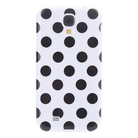 Силиконовый чехол для Samsung Galaxy S4 белый с черными точками - Polka Dots White&Black