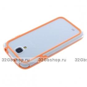 Чехол бампер Griffin для Samsung Galaxy S 4 оранжевый
