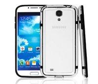 Бампер для Samsung Galaxy S4 mini прозрачный с черной вставкой