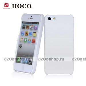 Кожаная накладка HOCO Duke для iPhone 5 / 5s / SE белая