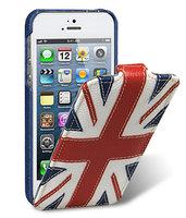 Чехол книга Melkco для iPhone 5 / 5s / SE Craft Edition Nations Britain (Jacka Type)