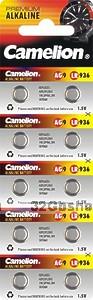 Элемент питания Camelion G9 (394A/LR936/194 батарейка для часов)