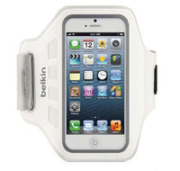 Чехол на руку Belkin Ease-Fit Sports Armband для iPhone 5 / 5s / SE белый