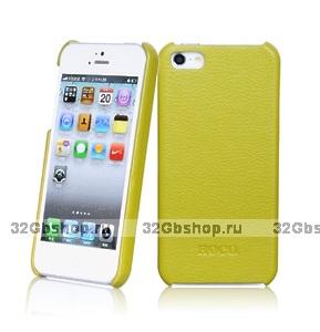 Кожаная накладка HOCO Duke для iPhone 5 / 5s / SE зеленая