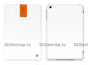 Кожаный чехол HOCO Litich real leather case White для iPad mini - белый