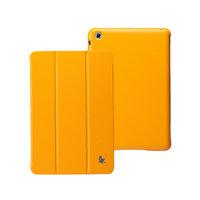Кожаный чехол Jisoncase Classic Smart Cover Orange для iPad mini - оранжевый