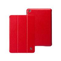 Кожаный чехол Jisoncase Classic Smart Cover Red для iPad mini - красный