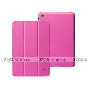 Кожаный чехол Jisoncase Classic Smart Cover Rose для iPad mini - розовый
