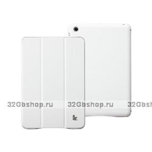 Кожаный чехол Jisoncase Classic Smart Cover White для iPad mini - белый