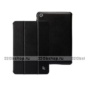 Кожаный чехол Jisoncase Classic Smart Cover Black для iPad mini - черный